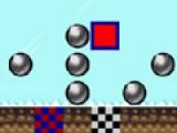 Ваша задача доставить красный квадратик до выхода. Для этого используйте стрелочки на клавиатуре. Подумайте, прежде чем сделать шаг.