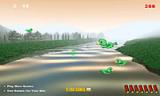 В этой игре Вы можете заняться утиной охотой. Вы водите прицелом и стреляете одну за другой летящих по небу птичек.