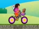 Даша собралась со своими питомцами на велосипедную прогулку. Постарайся построить мост до того как велосипед обрушится в пропасть!