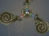 Перед Вами логическая головоломка, в которой Вам предстоит управлять механизмом, который стреляет цветными шариками. Управление осуществляется при помощи стрелок на вашей клавиатуре. Нужно так расположить механизм, что бы после того как он выстрелит, шарики одного цвета располагались рядом. Когда больше трех одинаковых шариков соберутся вместе, они лопнут как пузыри. Ваша задача не дать заполнится лабиринтам шариками.