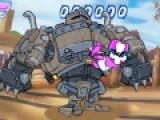 Da Pink Knight это игра про рыцаря, который отправился сражаться с кошмарным роботом, что бы освободить своих друзей. Ему не обойтись без твоей помощи. Управление игры осуществляется при помощи стрелок клавиатуры и кнопок ASD, которые отвечают за боевые приемы. Постарайся сделать так, что бы исход этой не равной драки один на один с роботом был на стороне рыцаря.