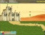 Вражеская армия в зеленых беретах намеревается захватить замок и превратить его в свою базу. Вам предстоит сидеть в засаде и отстреливать врага. Противостоять вам будет пехота и зенитно-ракетные установки.