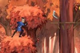 Сокке удалось сбежать от врагов, и теперь ему нужно успеть спасти деревню.  Стрелки - двигаться, пробел - прыжок, Ctrl - бросок бумеранга, двойное нажатие стрелок влево и вправо позволит высвободиться из ловушки.