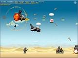 Динамичная игра, требующая от Вас подготовки к ведению боя с воздуха. Сюжет игры таков - Вы управляете  вертолетом и Вам нужно остановить двигающиеся к границе Вашего государства войска противника. Силы во много превышают Ваши.