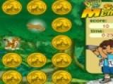 Любителям головоломок Диего предложил немного поиграть. Он недавно был на сафари и видел там множество животных. Он предлагает тебе убрать все золотые монетки с игрового поля. На обратной стороне монет изображены животные, которых встретил Диего во время сафари. что бы очистить игровое поле, ты должен переворачивать монетки с одинаковыми животными.