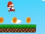 Марио снова собирает монетки и убегает от монстров. Помоги ему в этой задаче. Не дай ему свалиться в раскаленную лаву. Так же избегай  костров и различных монстров. Они отнимут заработанные бонусы.