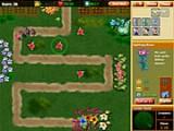 В этой игре Вы должны защитить свой сад от насекомых вредителей, которые покушаются на красивые цветы, овощи и фрукты. В этом деле Вам помогут полезные растения, фонтан и гномы-солдаты.