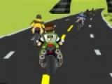 Бен 10 участвует в настоящих мотогонках. Помоги ему стать чемпионом гонки и опередить всех соперников на своем крутом байке. Крутые повороты трассы и отличная графика этой спортивной игры порадует любителей игр подобного жанра.