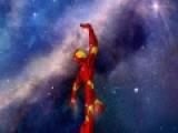 Героем этой игры стал Железный человек. Его цель отбить атаку инопланетных пришельцев при этом не врезаться в астероиды. помоги ему в этом.