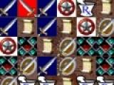 Передвигайте кубики с изображением мечей так что бы вряд получалось не меньше трех одинаковых кубиков. После этого они будут исчезать с игрового поля. Игра окончится тогда, когда не останется больше ходов.