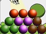 Главная задача этой игры - убрать все шарики с игрового поля. Для этого кликайте по шарикам одинакового цвета. После этого они лопнут как пузыри. Обратите на то, что шарики лопнут только в том случае, если Вы кликните на группу из двух и более пузырей.