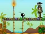В игре Сумасшедшие бобмы 2 - маленькие бомбочки-камикадзе должны уничтожать зомби. Главное не забыть поджечь фитиль об факел, не дать падающим каплям воды затушить его и вовремя добраться до зомби!