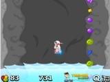 Похоже космонавт попал в жерло вулкана, который вот вот заполнится водой. Потому стартуйте скорее, собирайте разные драгоценные камни, которые увеличивают Вашу скорость и постарайтесь оторваться подальше от подступающей воды.
