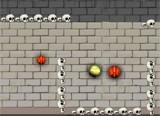 В этой Бакуган игре вам надо проводить шарик через различные препятствия. Шарик вам надо довести до конца окна где расположен зеленый символ планеты, тогда вы переходите в другой уровень.