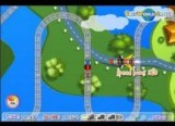 Эта железная дорога проложена высоко над землей, а состав, которым предстоит управлять игроку, движется по рельсам, в районе которых очень много разных подвижных объектов, что мешают проехаться быстро и с ветерком.