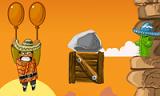 Наш герой оказался в очень узком и высоком каньоне. Но, проявив смекалку, он надул два шарика и стал постепенно подниматься вверх. Однако на его пути встречается много опасных колючих предметов и если шарики лопнут, то из каньона вы не выберетесь.