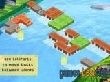 В этой игре нужно построить мостики, чтобы можно было пройти.