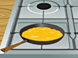 Приготовьте вкуснейший омлет. Для этого используйте яйца и сливки. Не забудьте посолить. И ни в коем случае не передержите на огне. Иначе он сгорит.