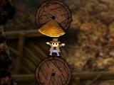 Помогите герою выбраться из ущелья, которое вот-вот наполнится раскаленной лавой.