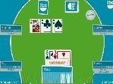 Техасский покер. Отличается от обычного тем, что сначала у Вас две карты, а после ставок на столе появляются еще три. Вобщем - более непредсказуем :) Сделай ставку и выиграй у других игроков.