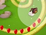 Перед вами игра построенная по принципу стратегии защита замка. Вы должны расположить воинственных обезьянок таким образом, что бы ни один шарик не долетел до конца лабиринта.