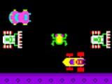 Помогите маленькому лягушонку перебраться через оживленную трассу. Используйте для этого стрелочки на вашей клавиатуре.