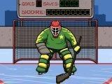 Примерьте на себя доспехи хоккейного вратаря и держите ворота на замке.