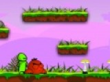 Главный герой этой яркой игры бродилки зеленый человечек по имени Флудо. Он оправится в путешествие за вкусными волшебными грибочками. На пути его ждут увлекательные приключения и коварные монстры. Помоги флудо пройти свой путь. Используй стрелочки, что бы управлять персонажем игры.