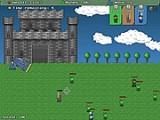 Ваш средневековый замок атакуют...роботы! Уничтожайте их при помощи пушки, стараясь не задевать людей. Накопленных людей задействуйте в обороне замка от роботов.