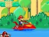 Что бы пополнить свои золотые запасы Марио отправился в джунгли. На скоростной лодке Марио будет плыть по неспокойной реке. Твоя задача помочь ему не перевернуться. Ведь плавать Марио так и не научился.