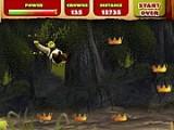 В этой игре Шрек решил покататься в грязи. Помогите Шреку вдоволь поскользить по грязи, собирая при этом короны. Не забывайте подпрыгивать перед пнями.