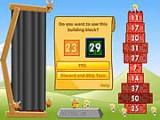 Постройте башню, помещая блоки в ряд числовой прогрессии.