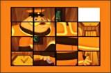Если у тебя уже вышло собрать картинку с Лунтиком, то попробуй собрать эту картинку в пятнашках с дедушкой Шершнем, который очень заботится об Лунтике и помогает ему.