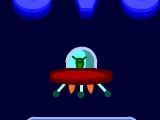 Космический корабль непременно должен попасть в пространственный портал. Управляй этим  кораблем при помощи стрелочек на клавиатуре и постарайся не сталкиваться с предметами.