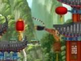 Помните Тигрицу? Она была одним из персонажей мультфильма Панда Кунг Фу. Помогите тигрице забраться как можно выше по летящим фонарикам и заработайте максимальное количество очков.