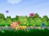 Ловец цветов это очень яркая и простая игра, которая подойдет даже для детей. Цель игры помочь медвежонку собирать падающие цветочки в корзинку. Для этого нужно управлять героем при помощи мышки.