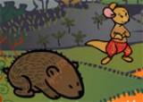 Кенгурчик играет со своими друзьями в прятки. Вы познакомитесь с жителями Австралии - Динго, Вомбатом, утконосом и другими забавными зверушками.