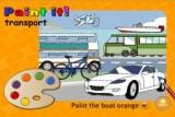 Игра из серии Paint It - изучаем английские слова, раскрашивая транспортные средства.