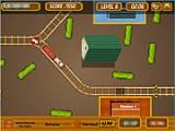 Довольно увлекательная игра, в которой вам придется управлять локомотивом. Нужно провести его вместе с прицепленным вагоном до станции, переставляя стрелки и избегая сломанных участков железной дороги.