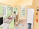 Кто же так насвинячил в этой кухне? Вряд ли мы это узнаем. Наша задание - привести помещение в порядок, чтоб оно блестело и сияло и все кухонные принадлежности были на своих местах!