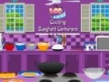 Цель этой игры про кулинарию приготовить спагетти в соусе карбонара. Если вы не знаете рецепт не переживайте. Наш повар подскажет Вам, что нужно делать, что бы блюдо получилось вкусным.