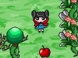 В этой игре Красная шапочка должна собрать все разбросанные фрукты и взять ключик от заветной двери, ведь только так она попадет на следующий уровень. Однако совершить это не так легко - страшные волки мешают ей это сделать!