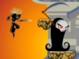 Сразись с самой смертью в красочной игре Ninja Assassin 1. Ее цель добраться до самого верхнего уровня. Именно там хранится свиток с секретными заклинаниями. Управляй героем при помощи стрелочек клавиатуры. Нажимай на пробел, что бы бросить острую звездочку в противника. Но не забывай, что количество звездочек ограничено.