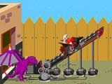 Мальчик Билли обладает инженерным складом ума и как-то под воздействием прочитанных книжек с ужасами изобрел катапульту, которая будет запускать его на большие расстояния в случае нападения оборотней. Запускайте Билли из его устройства и апгрейдите его!
