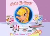 Сделайте потрясный макияж для девочек Винкс в игре - Бесплатный макияж Винкс. После загрузки игры выбираем для кого будем делать бесплатный макияж (для Блум, Флоры или Стеллы). Должна появиться комната со всеми макияжными штучками.
