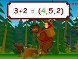 В этой игре Вы должны помочь Девочке Маше добраться до дома в рюкзаке Медведя, правильно отвечая на вопросы, которые можно выбрать мышкой. Игра на сложение и вычитание.