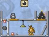 В этой физической игре на логику Вам придется заняться уничтожением роботов при помощи взрывчатки и комбинации различных подвижных предметов на уровне. Прежде чем заложить бомбу в нужном месте, придется хорошенько подумать!