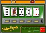 Самый обыкновенный видео-покер. Задача - сорвать денег побольше!