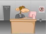Попробуйте стать обезьяной на несколько минут и поработать... или побездельничать...