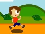 Маленький человечек пытается преодолеть беговую дорожку, но на его пути возникают все новые задачи. Помогите ему решить все примеры правильно!